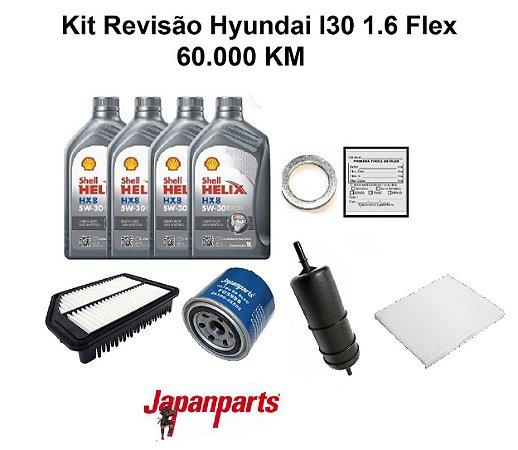 Kit Revisão Hyundai I30 1.6 Flex 60 Mil Km
