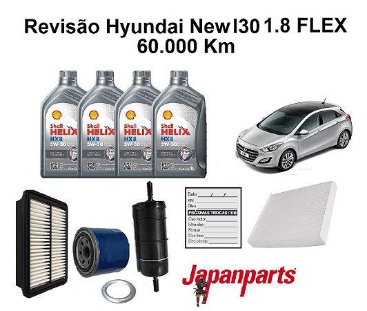 Kit Revisão Hyundai New I30 1.8 60 Mil Km