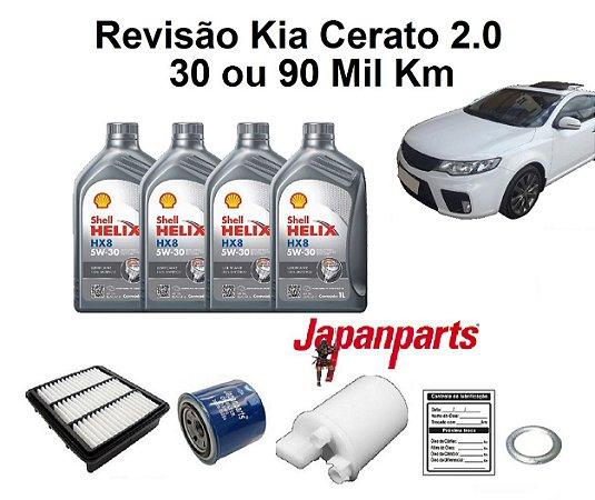 Kit Revisão Kia Cerato 2.0 30 Ou 90 Mil Km