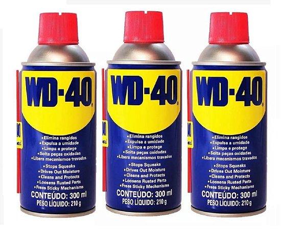 KIt Com 03 Frascos De WD-40 Desengripante Spray 300ml Multi Uso
