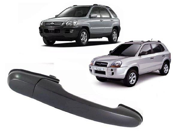 Maçaneta Traseira Externa Lado Esquerdo Hyundai Tucson 2.0 Kia Sportage 2.0 2005 a 2015