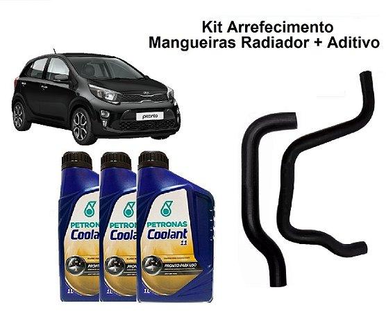 Kit Mangueiras Do Radiador Kia Picanto 1.0 Com Aditivo Coolant Pronto Para Uso