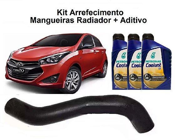 Mangueira Superior Radiador Hb20 1.6 Com Aditivo Coolant Petronas Pronto para Uso
