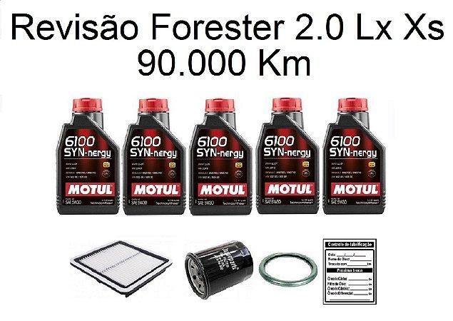 Kit Revisão Subaru Forester 2.0 Lx Xs 90 Mil Km Com Óleo Motul 6100 Syn-nergy 5W30 Sintético