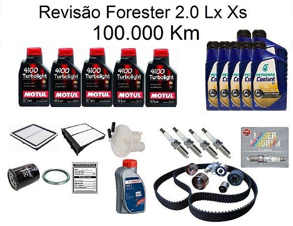 Kit Revisão Subaru Forester 2.0 Lx Xs 100 Mil Km Com Óleo Motul 10W40 Turbolight