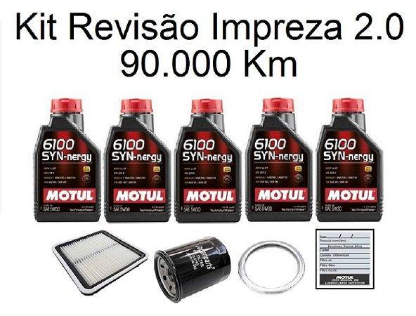 Kit Revisão Subaru Impreza 2.0 160 Cv 90 Mil Km Com Óleo Motul 6100 Syn-nergy 5W30 Sintético