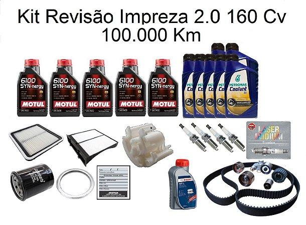 Kit Revisão Subaru Impreza 2.0 160 Cv 100 Mil Km Com Óleo Motul 6100 5W30 Sintético Syn-nergy