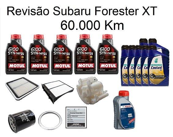 Kit Revisão Subaru Forester 2.0 2.5 XT 60 Mil Km Com Óleo Motul 5W30 6100 Sintético