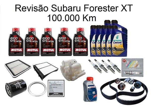 Kit Revisão Subaru Forester 2.0 2.5 XT 100 Mil Km Com Óleo Motul 6100 Syn-nergy 5W30 Sintético