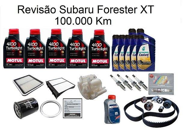 Kit Revisão Subaru Forester 2.0 2.5 XT 100 Mil Km Com Óleo Motul 10W40 Turbolight Semi-Sintético