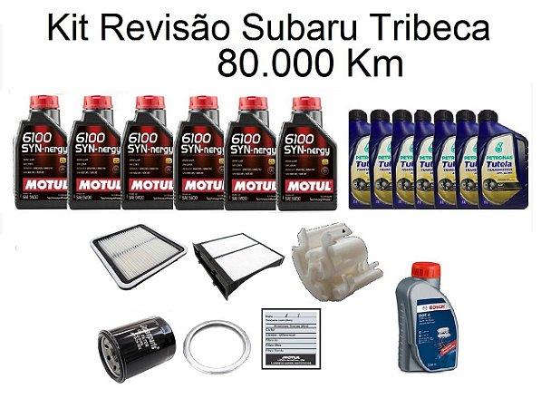 Kit Revisão Subaru Tribeca 80 Mil Km Com Óleo Motul 6100 Syn-nergy 5W30 Sintético