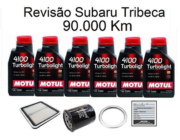 Kit Revisão Subaru Tribeca 90 Mil Km Com Óleo Motul 10W40 Turbolight Semi-Sintético