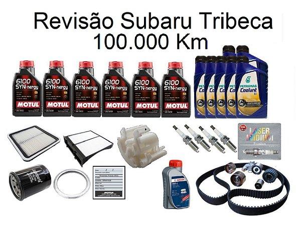 Kit Revisão Subaru Tribeca 100 Mil Km Com Óleo Motul 6100 Syn-nergy 5W30 Sintético