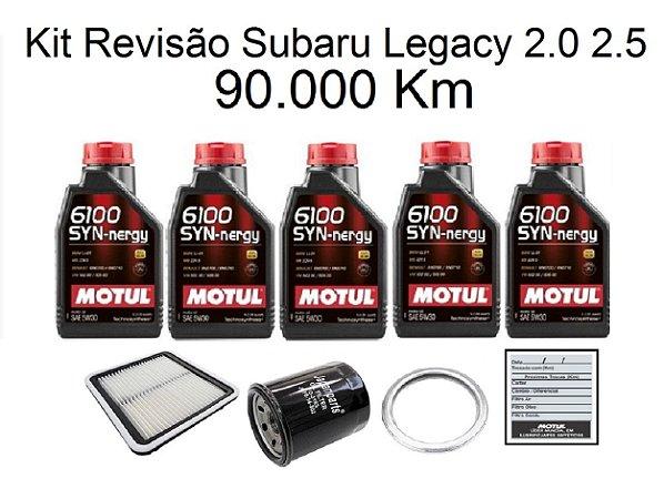 Kit Revisão Subaru Legacy 2.0 2.5 90 Mil Km Com Óleo Motul 6100 Syn-nergy 5W30 Sintético