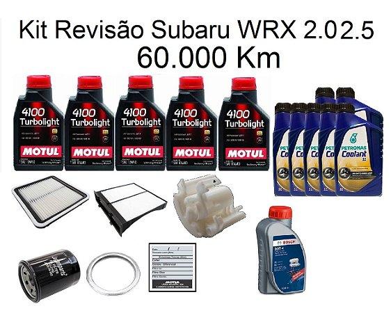 Kit Revisão Subaru Wrx 2.0 2.5 60 Mil Km Com Óleo Motul 4100 Turbolight 10W40 Semi-Sintético
