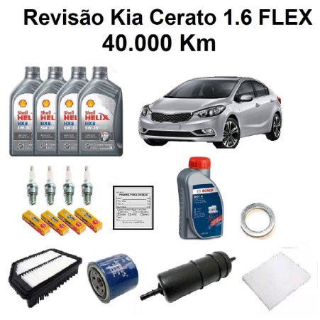 Kit Revisão Kia Cerato 1.6 Automático Flex 40 Mil Km