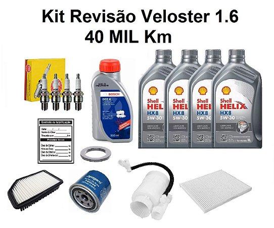 Kit Revisão Hyundai Veloster 1.6 40 Mil Km