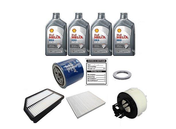 Kit Revisão Hyundai Ix35 2.0 Gasolina Com Óleo Shell 5W30 Sintético