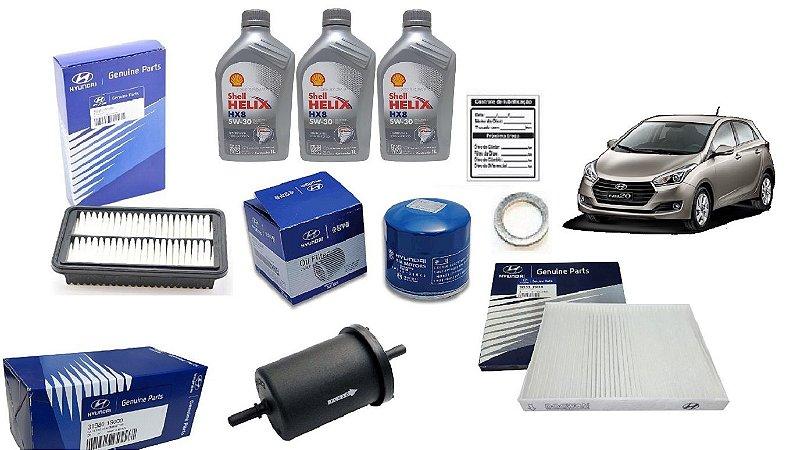 Kit De Filtros Original Hyundai Hb20 1.0 Com Óleo Shell 5W30 Sintético