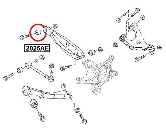 Bucha Da Bandeja Inferior Suspensão Traseira Subaru Forester Impreza Legacy