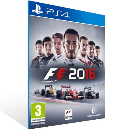 Ps4 - F1 2016 - Digital Código 12 Dígitos US