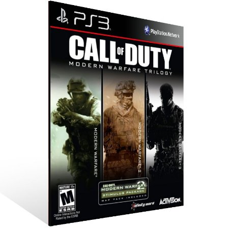 Ps3 - Call of Duty Modern Warfare Bundle - Digital Código 12 Dígitos US