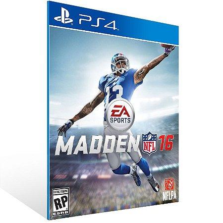 PS4 - Madden NFL 16 - Digital Código 12 Dígitos US