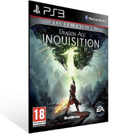 Ps3 - Dragon Age Inquisition Deluxe Edition - Digital Código 12 Dígitos US
