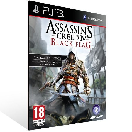 Ps3 - Assassins Creed 4 Black Flag - Digital Código 12 Dígitos US