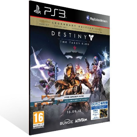 Ps3 - Destiny The Taken King Legendary Edition - Digital Código 12 Dígitos US