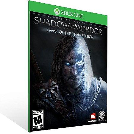Xbox One - Middle-earth: Shadow of Mordor - Game of the Year Edition - Digital Código 25 Dígitos  Brasileiro