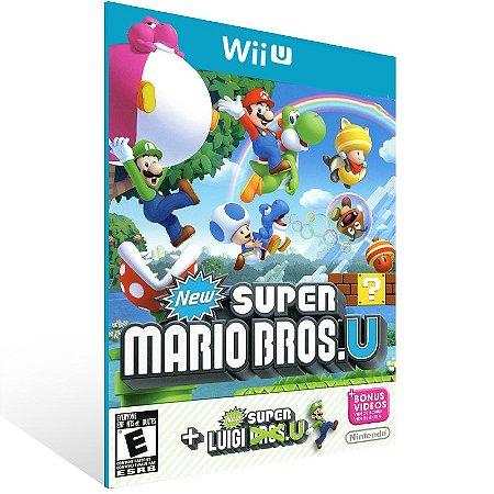 Wii U - New Super Mario Bros. U + New Super Luigi U Bundle - Digital Código 16 Dígitos US
