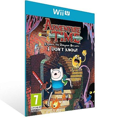 Wii U - Adventure Time: Explore the Dungeon Because I DON'T KNOW! - Digital Código 16 Dígitos US