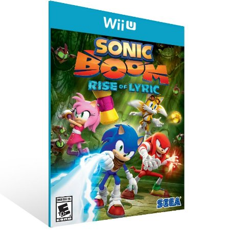Wii U - Sonic Boom: Rise of Lyric - Digital Código 16 Dígitos US