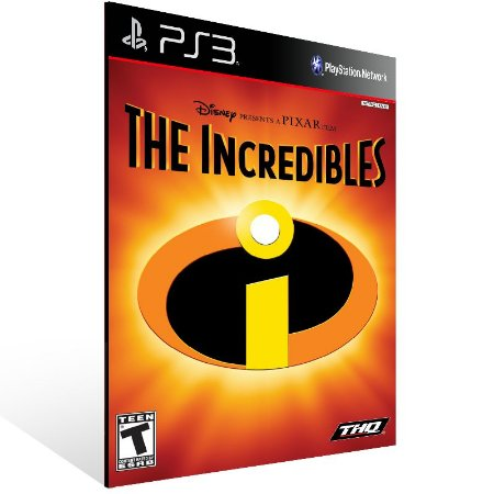 Ps3 - The Incredibles (PS2 Classic) - Digital Código 12 Dígitos US