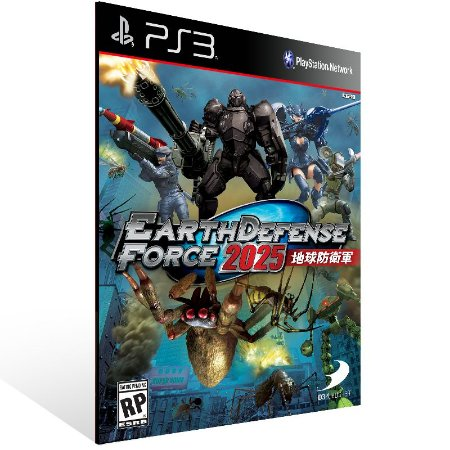 Ps3 - Earth Defense Force 2025 - Digital Código 12 Dígitos US