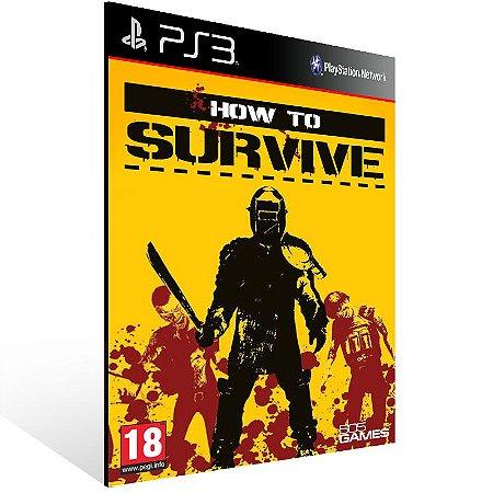 Ps3 - How to Survive - Digital Código 12 Dígitos US