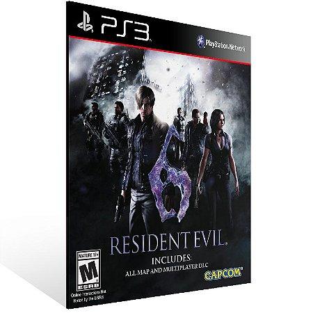 Ps3 - Resident Evil 6 - Digital Código 12 Dígitos US