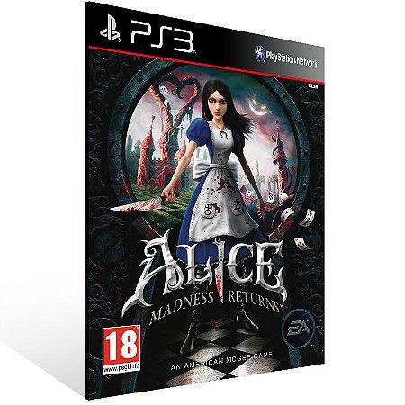 Ps3 - Alice Madness Returns - Digital Código 12 Dígitos US