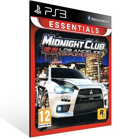 Ps3 - Midnight Club Los Angeles Complete Edition - Digital Código 12 Dígitos US
