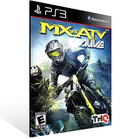 Ps3 - MX vs ATV: Alive - Digital Código 12 Dígitos US