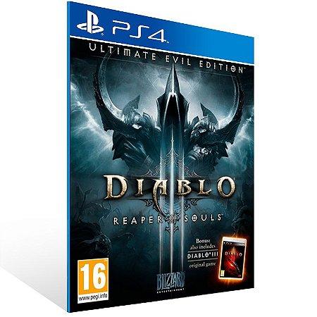 Ps4 - Diablo III: Reaper of Souls - Ultimate Evil Edition - Digital Código 12 Dígitos US