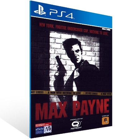 PS4 - Max Payne - Digital Código 12 Dígitos US