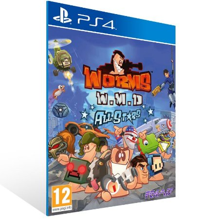 PS4 - Worms W.M.D - Digital Código 12 Dígitos US