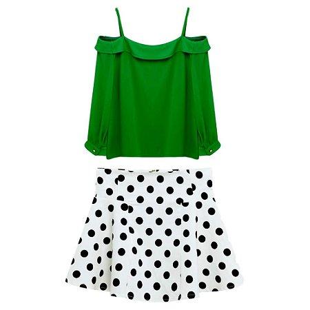 Conjunto de Saia e Blusa Zara