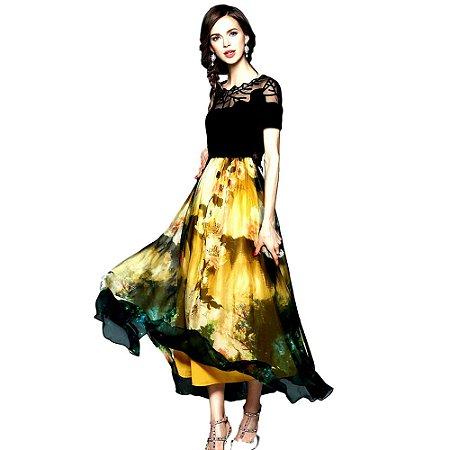 Vestido De Seda Rainha Mulock