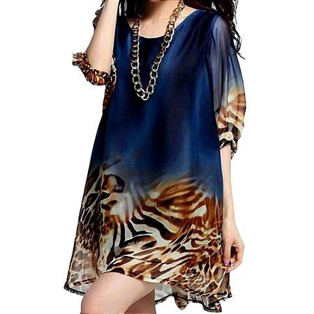 Vestido Leopard Blue