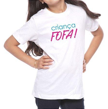 Camiseta Infantil Criança Fofa