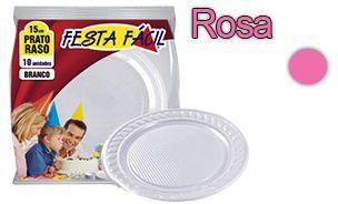 Prato Raso 15cm FESTA FACIL (cores)