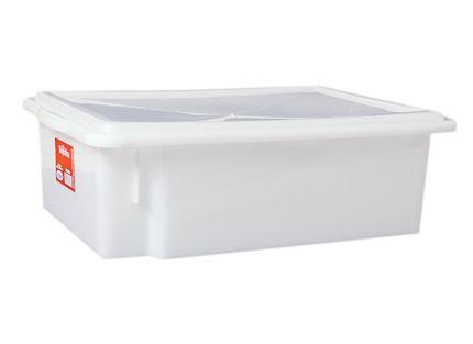 Caixa Organizadora Plástico com Tampa Branca Bioprátika 10 lts